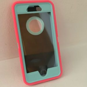 IPhone 6/6s case - neon punk and blue